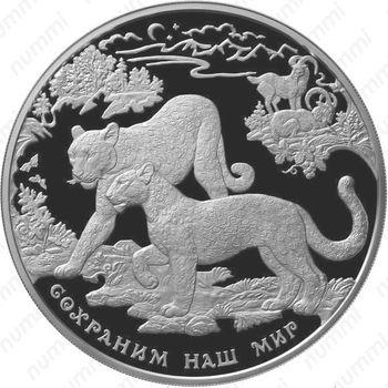 100 рублей 2011, леопард (ММД)
