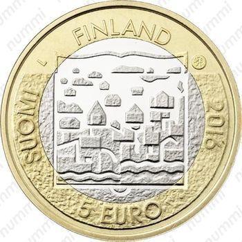 Медно-никелевая монета 5 евро 2016, Лаури Кристиан Реландер (аверс)