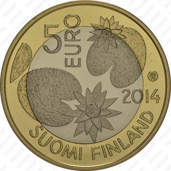 5 евро 2014, вода - Аверс