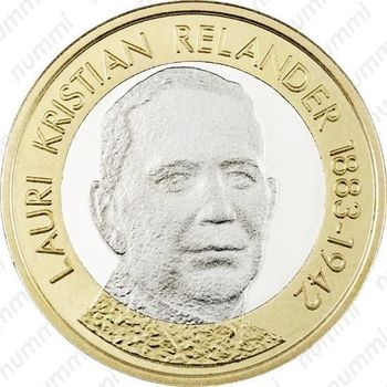 5 евро 2016, Лаури Кристиан Реландер - Реверс