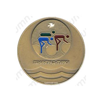 Настольная медаль «Дружба стран Балтийского моря. Велопробег. Ленинград-Турку»
